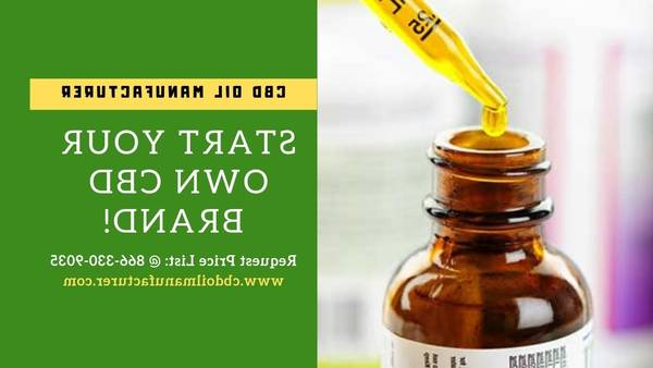 Private Label CBD Manufacturer